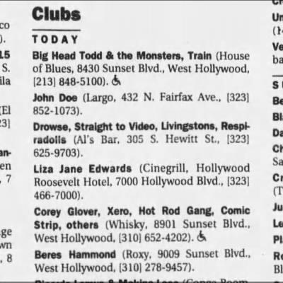 Xero   1998.12.10   The Los Angeles Times
